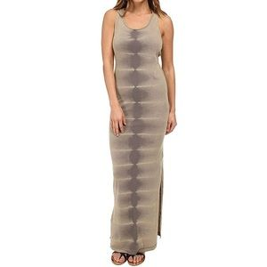 VANS Army Green Side Slit Maxi Dress Size Small